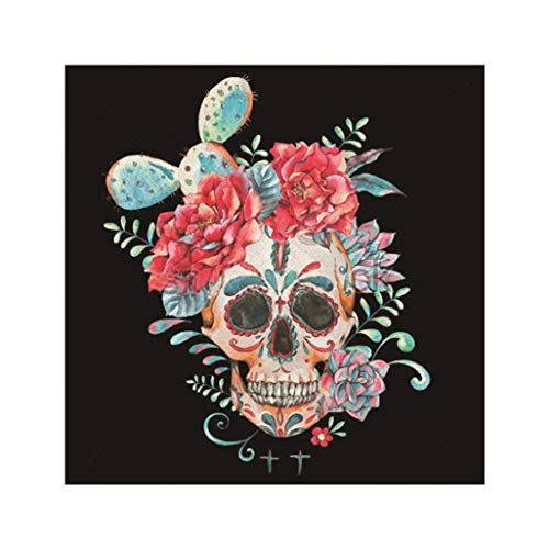 Diamond Painting Kits For Adults,BYTWO DIY 5D Halloween skull Diamond Painting Arts Craft Crystal Rhinestone Diamond For Living Room Home Decor (D) ()