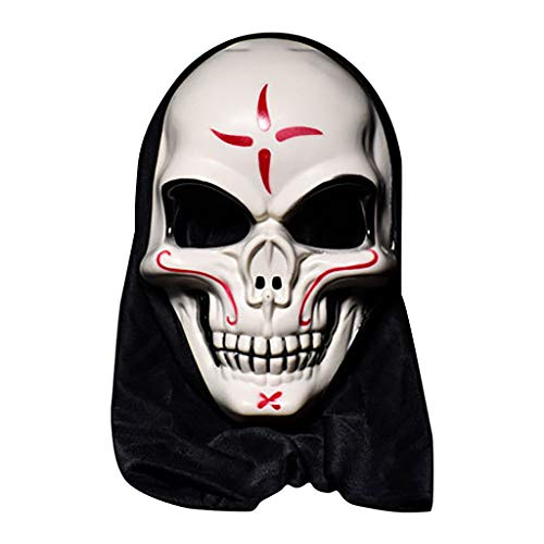 Unionm Halloween Mask, Masquerade Mask, Halloween Props, Halloween Horror Mask Cosplay Bar Performance Night Show Theme Party