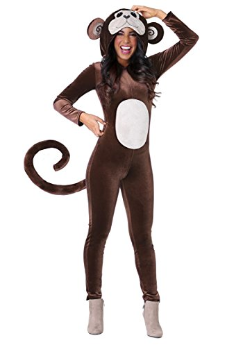 Women's Jumpsuit Monkey Around Costume Medium Brown -