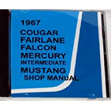 1967 FORD FACTORY REPAIR SHOP & SERVICE MANUAL CD INCLUDES : Ford Mustang, Falcon, Falcon Futura, Fairlane, Fairlane 500, Fairlane 500 XL, GT and Ranchero 67