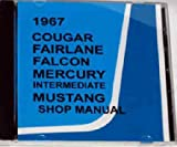 1967 MERCURY FACTORY REPAIR SHOP & SERVICE MANUAL CD INCLUDES Mercury Cougar, XR-7, Comet, Capri, Caliente, Cyclone, and wagons 67