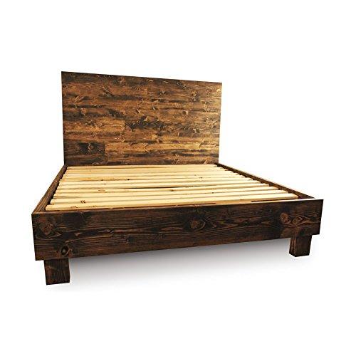 rustic platform bed. Black Bedroom Furniture Sets. Home Design Ideas