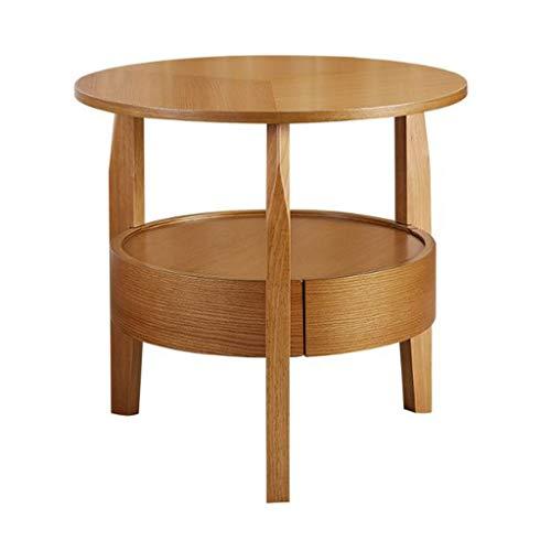Amazon.com: L-Life - Mesa auxiliar de madera maciza de 2 ...