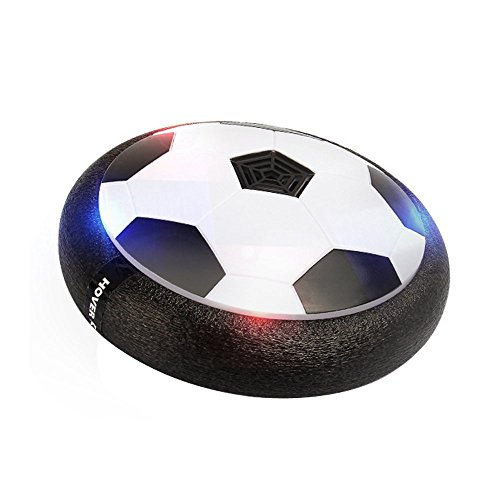 (Cocopa Air Power Soccer Disc, Air Hover Ball with Foam Bumpers and LED Lights, Hover Disk Football for Indoor and Outdoor)