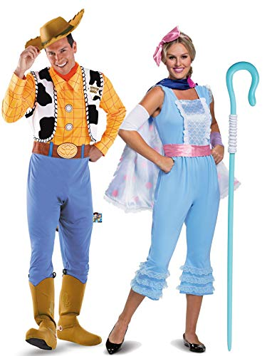 Toy Story Couple Costumes (Toy Story Woody and Bo Peep Couple Costume)