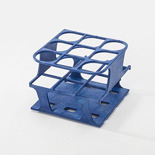 Half-Size Freezer Rack for 30mm Test Tubes - Blue - 1 Each