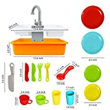 Play Kitchen Accessories Toy Pretend Sink Playset