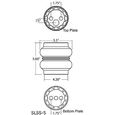 "Slam Specialties SS-5 Air Bag Spring 1/2"" Port 250 PSI Custom Suspension 2 Pack: Automotive"