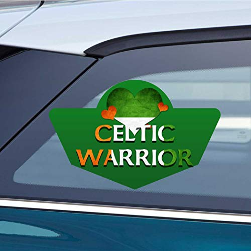 Makoroni - Celtic Warrior Ireland Irish Heart Love Design Car Laptop Wall Sticker Decal - 4'by6'(Small) or 6'by9'(Large)