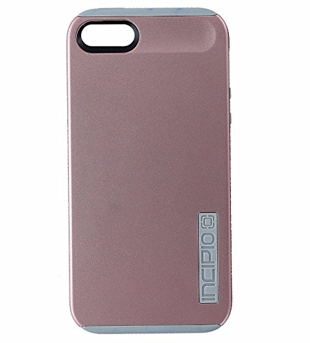 Incipio DualPro Hybrid Case Cover Apple iPhone SE 5s 5 - Pink Rose Gold / Gray