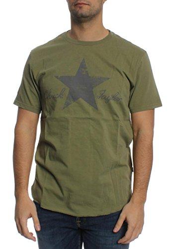 Converse T-Shirt Men WASHED REFLECTIVE 10001078 Khaki 333