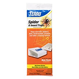 Terro T3206 Spider & Insect Trap (4 Count) 8 Traps and kills spiders, scorpions, ants, cockroaches, crickets and other unwanted insects Safe, non-toxic, pesticide free Safe to use around kids and pets