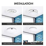 Flush Mount Ceiling Light, OHLUX WiFi Smart Music