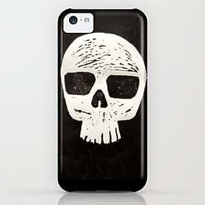 Society6 - Skull ( Linocut ) iPhone & iPod Case by William Gazou