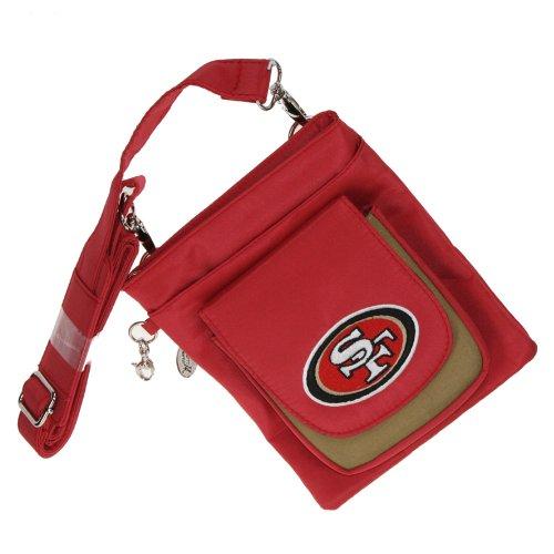- NFL San Francisco 49ers Crossbody Handbag Womens- Embroidered Logo by Little Earth