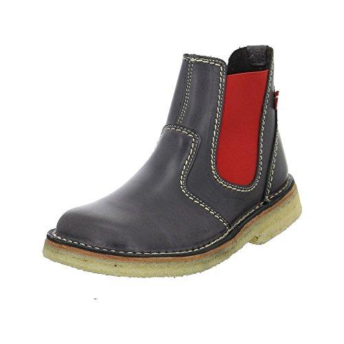 Duckfeet Roskilde Chelsea Boot,Slate/Red Leather,EU 38 M
