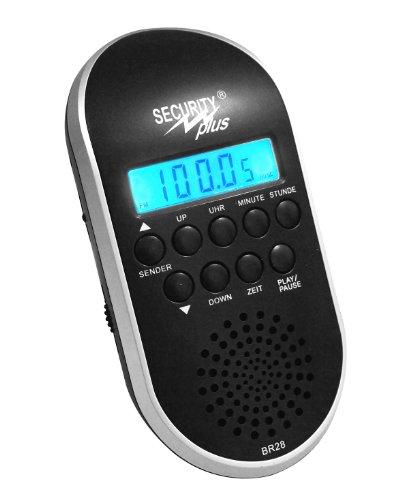 Security Plus ® Fietsradio BR 28, zwart-zilver, 20 x 15 x 7 cm