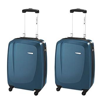 Gabol Line Juego de 2 Maletas, Color Azul, 33 litros: Amazon.es: Equipaje