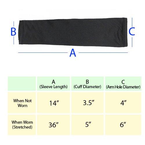Elixir Golf (E3D-B2P) Unisex 2 Pairs of Black Cooling Arm Sleeves, Black by Elixir Golf (Image #4)
