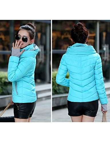 Outerwear Down Outdoor Hooded Blue Windproof Coats Jacket Thick Zhhlaixing Winter Jacket Womens Cotton Sports Casual Ladies Warm Slim wqO0Ua
