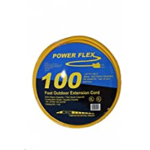 CEP Construction Electrical Products 1101 10-Gauge 3 Wire 100-Feet Yellow Extension Cord