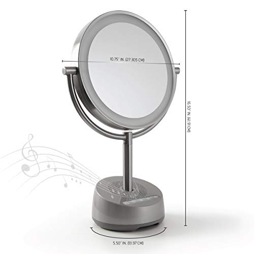 Led Mirror And Speaker Sharper Image Bluetooth Vanity