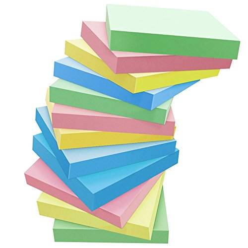 Sticky Notes, VEEYOL 16 Pads Self-Stick Notes, 100 Sheets/Pad, 3 X 3 inches, Easy to Post for Home, Office, Classroom