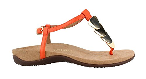 T Womens Strap Miami Sandal Orange Vionic Efxq0wqR