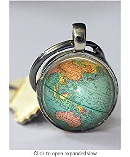 Amazon world map keychain world map keychainworld map globe keychain world map planet earth geography key chain key fob accessories gumiabroncs Gallery