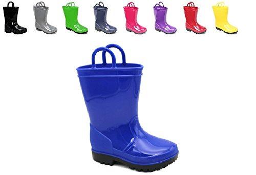 Ska Doo Royal Blue Kids Rain Boots 8 M US Toddler