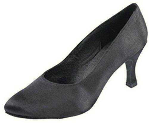 Shell Basique Chaussures De Danse De Salon Noir Satin