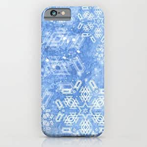 Society6 - Abstract Snow Flakes On Blue Texture iPhone 6 Case by Wendy Townrow