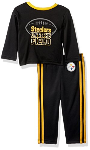NFL Children Boy's Short Sleeve Tee & Pant Set, Steelers, 3T (Pittsburgh Steelers Outfit)