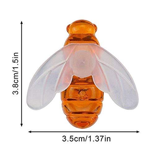 ❤️Jonerytime❤️ Remote Control Solar Powered String Lights Bee Led Lights8 Modes Waterproof Dec Yellow -