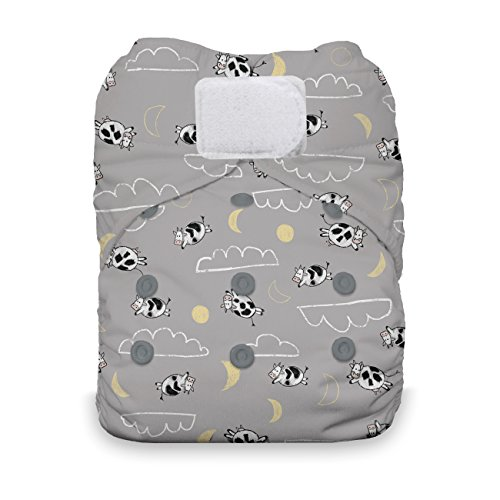 - Thirsties Natural One Size All in One Cloth Diaper, Hook & Loop Closure, Over The Moon