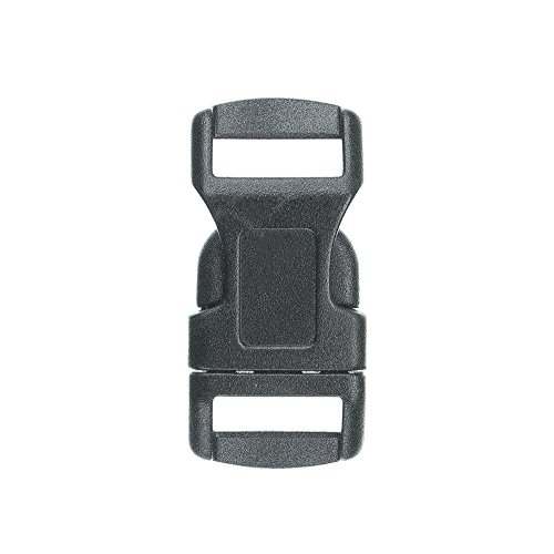 """Paracord Planet Brand Contoured Side Release Black Buckle – 1/2"""" 10 (1/2 Buckle)"""