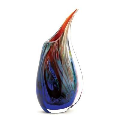 Colorful Dreamscape Art Decorative Glass Flower Vase