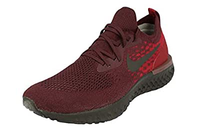 Nike Epic React Flyknit Mens Running Trainers AT0054 Sneakers Shoes (UK 6 US 7 EU 40, deep Burgundy Team red 600)