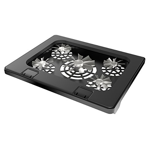 Laptop Cooling Pad With 5 Fans Led Lights And Adjustable
