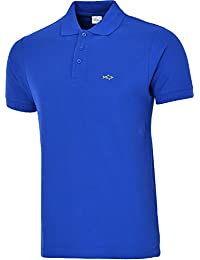 polo shirts for men cotton classic embroidered logo