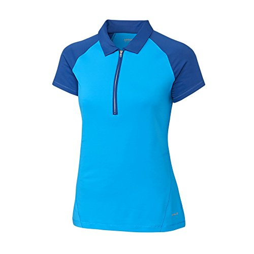 Cutter & Buck LAK06398 Women's Annika Thyra Zip Polo Shirt, Multi - M