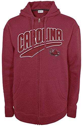Hood Athletic Majestic (NCAA South Carolina Fighting Gamecocks A00440-CH008 Long Sleeve Full Zip Hood, X-Large, Garnet)