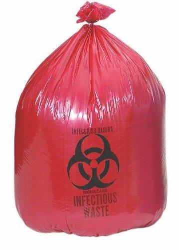 """Red Liners - Biohazard, Low Density, 30"""" x 37"""", 1.2 mil, 25 gal (250 Each/Case)"""