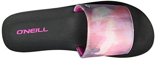 ONeill Damen FW Pool Slide Zehentrener Rosa (PINK Allover Print W/ BLUE 6)