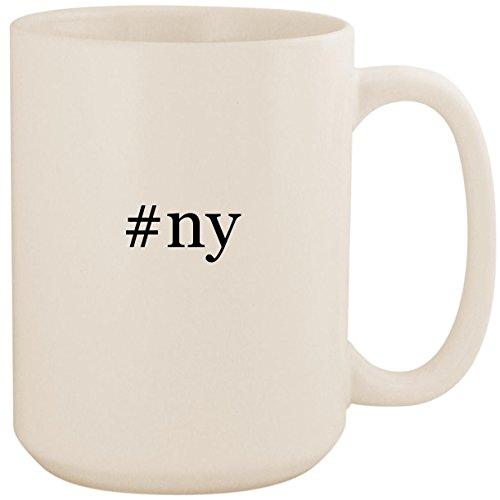 #ny - White Hashtag 15oz Ceramic Coffee Mug Cup