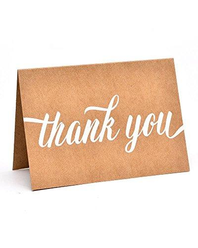 Gartner Studios White Script Thank You Cards, 50 count ()