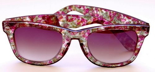 Wayfarer Style Sun Reader - Incredible Colors - Case Included , 1.00, Green Ornament
