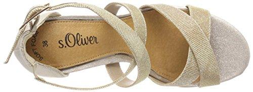 De S De Beige glitter Cheville Femmes oliver champ 28315 Spartiates qpUf7q