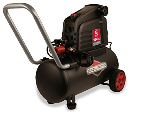Briggs & Stratton 8-Gallon Air Compressor, Hotdog 074025-00 Horizontal Air Grinder