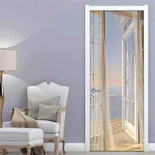 3D Door Decal Door Stickers Decor Door Mural Removable Vinyl Door Wall Mural Door Wallpaper for Home Decor 30.3x78.7 ()